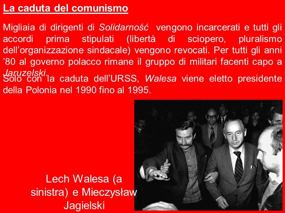 Lech Walesa (a sinistra) e Mieczysław Jagielski
