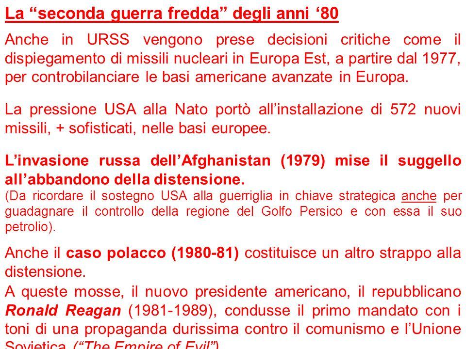 La seconda guerra fredda degli anni '80