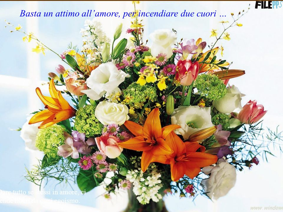 Basta un attimo all'amore, per incendiare due cuori …