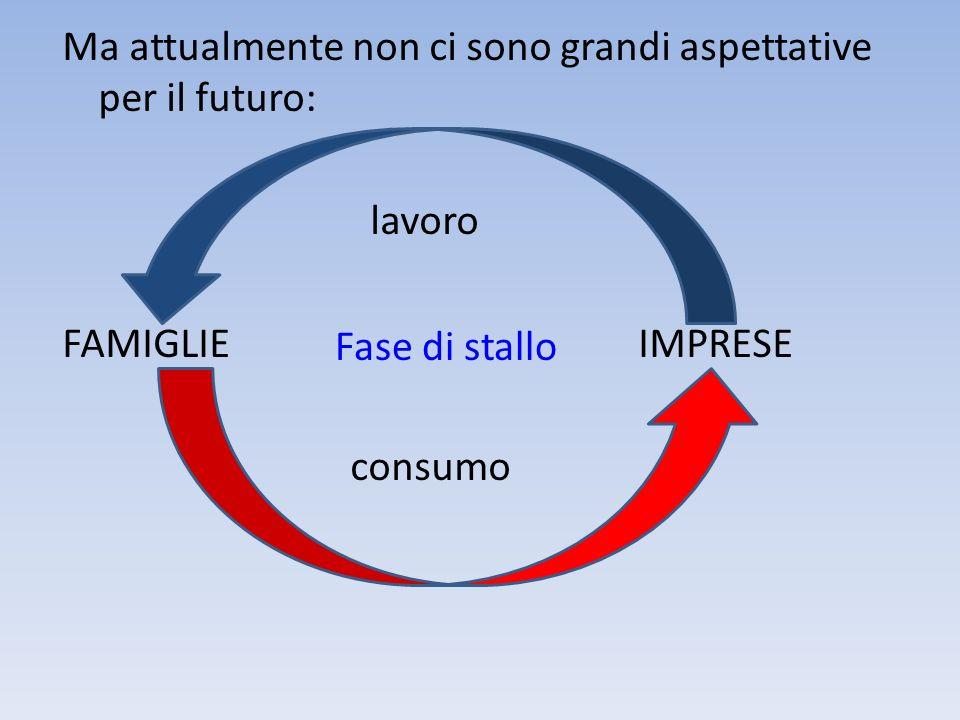 Ma attualmente non ci sono grandi aspettative per il futuro: lavoro FAMIGLIE IMPRESE consumo
