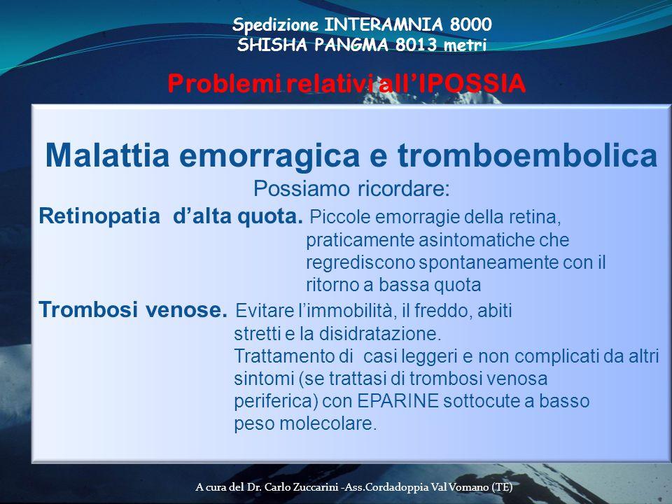 Malattia emorragica e tromboembolica