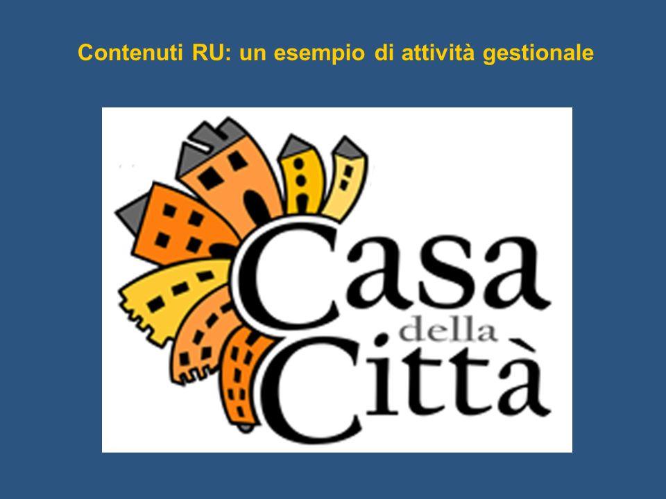 Contenuti RU: un esempio di attività gestionale