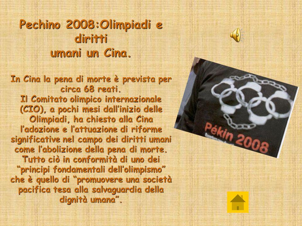 Pechino 2008:Olimpiadi e diritti umani un Cina.