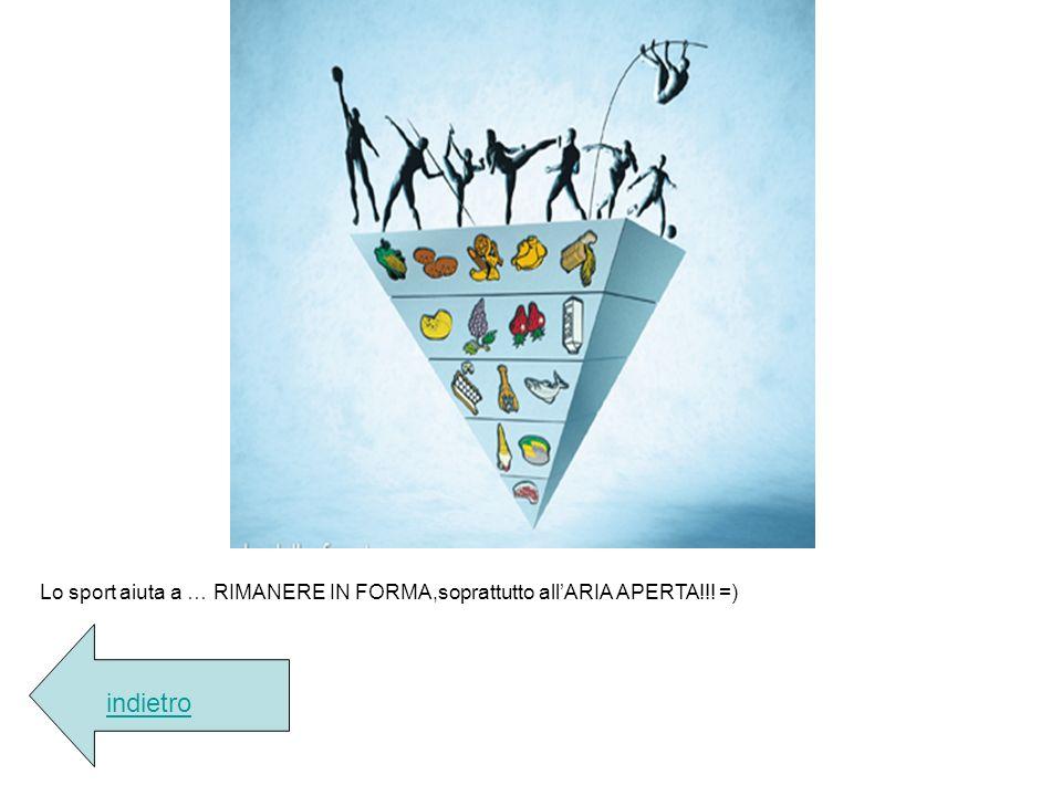 Lo sport aiuta a … RIMANERE IN FORMA,soprattutto all'ARIA APERTA!!! =)