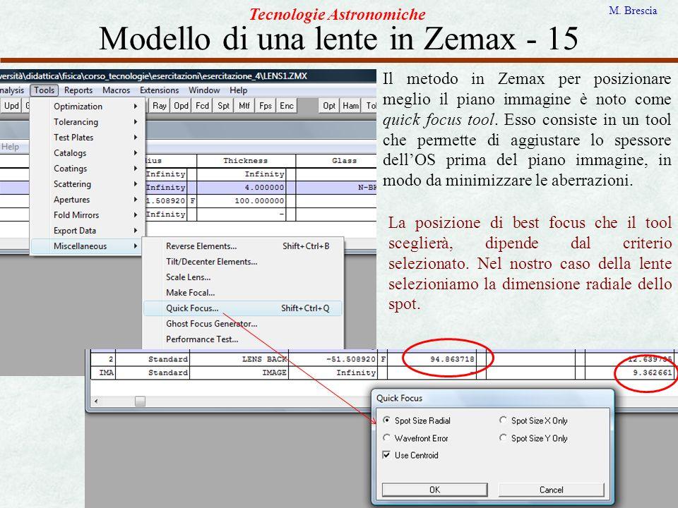 Modello di una lente in Zemax - 15