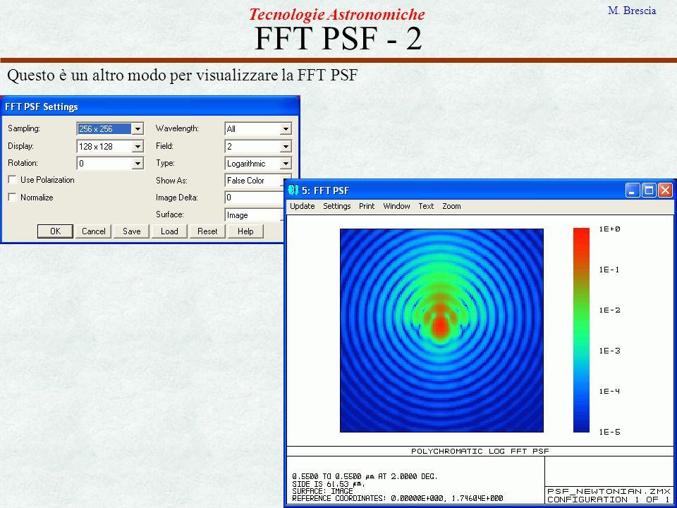 FFT PSF - 2 Tecnologie Astronomiche