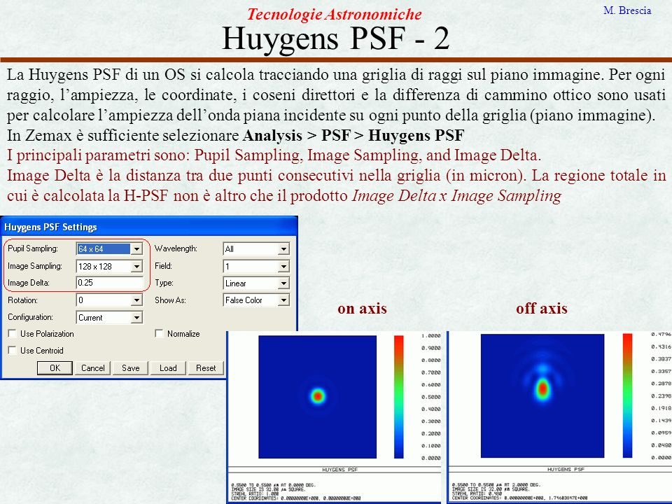 Huygens PSF - 2 Tecnologie Astronomiche