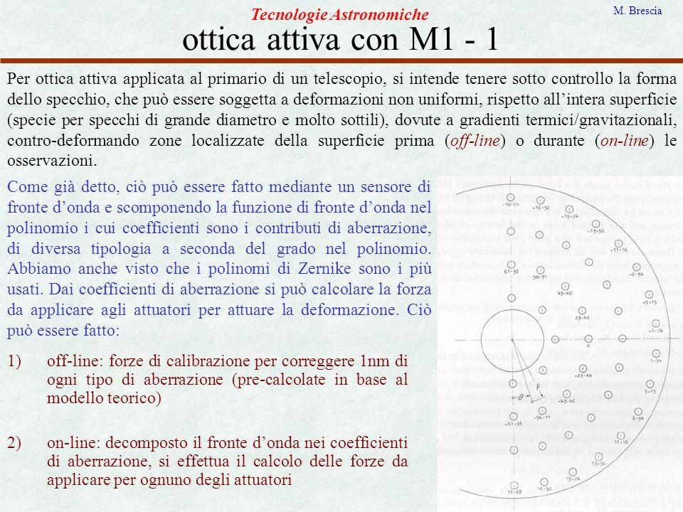 ottica attiva con M1 - 1 Tecnologie Astronomiche
