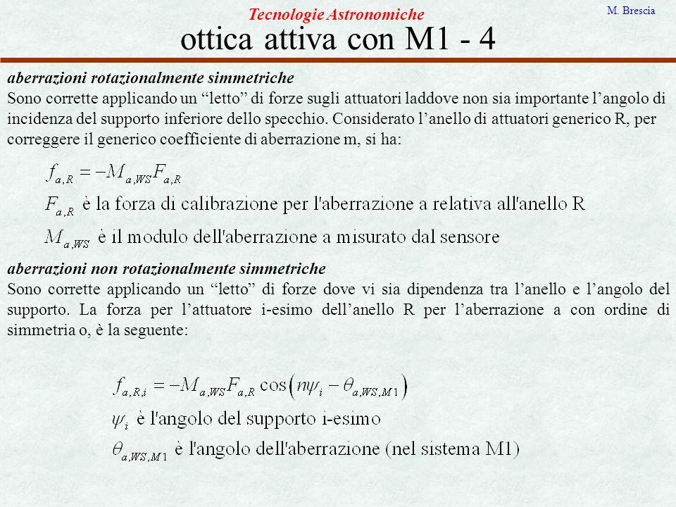 ottica attiva con M1 - 4 Tecnologie Astronomiche
