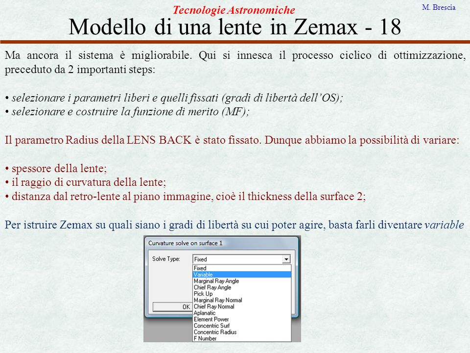Modello di una lente in Zemax - 18
