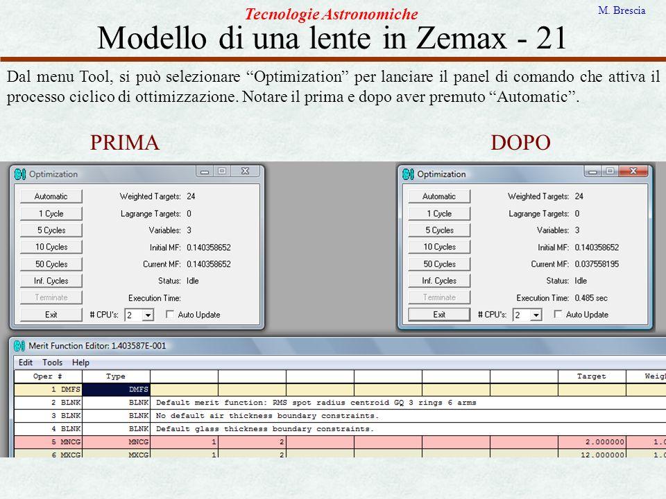 Modello di una lente in Zemax - 21