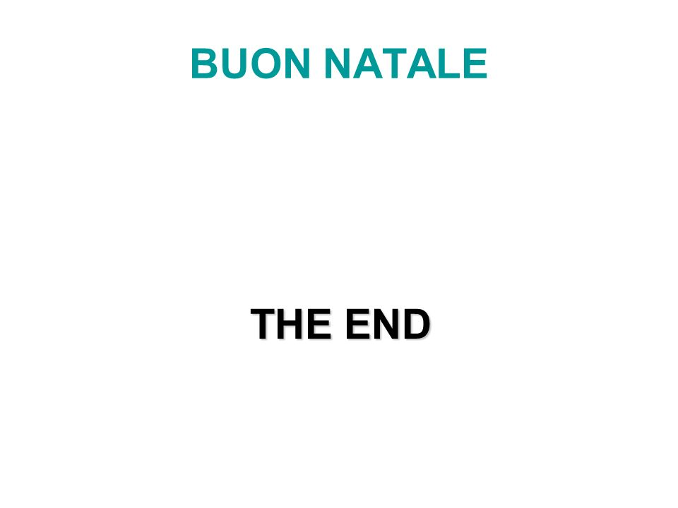 BUON NATALE THE END