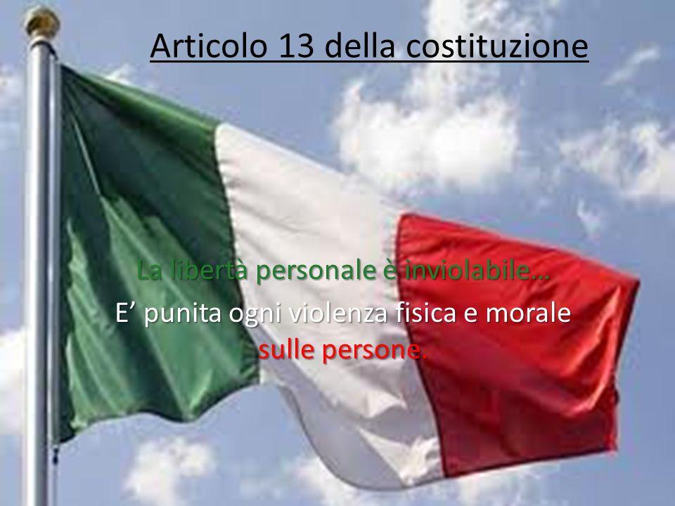 Articolo 13 della costituzione