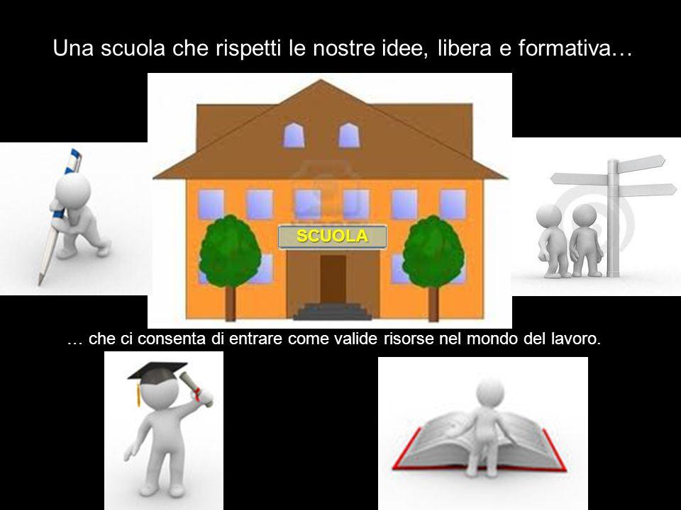 Una scuola che rispetti le nostre idee, libera e formativa…