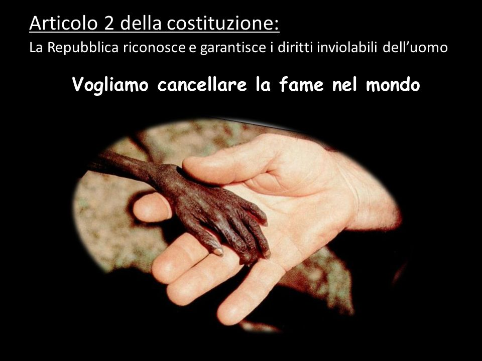 Articolo 2 della costituzione: La Repubblica riconosce e garantisce i diritti inviolabili dell'uomo…