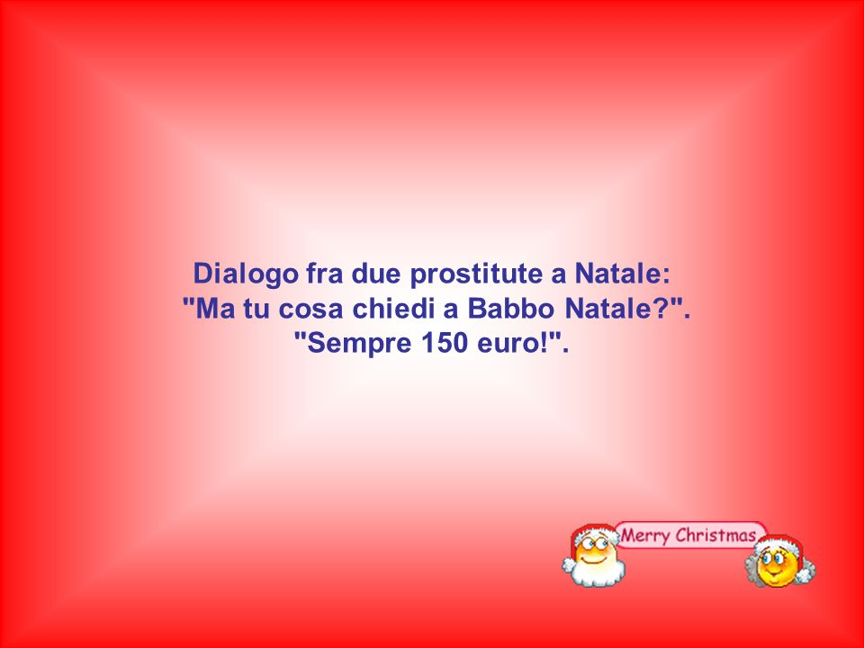 Dialogo fra due prostitute a Natale: