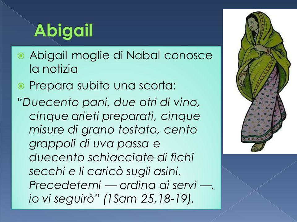 Abigail Abigail moglie di Nabal conosce la notizia