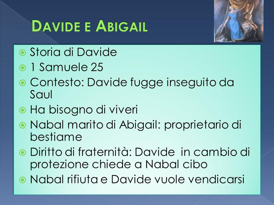 Davide e Abigail Storia di Davide 1 Samuele 25