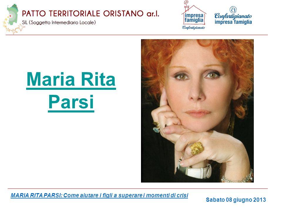 Maria Rita Parsi MARIA RITA PARSI: Come aiutare i figli a superare i momenti di crisi.