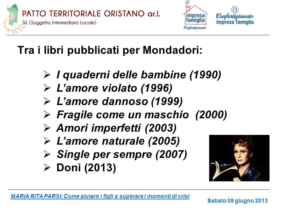 Tra i libri pubblicati per Mondadori:
