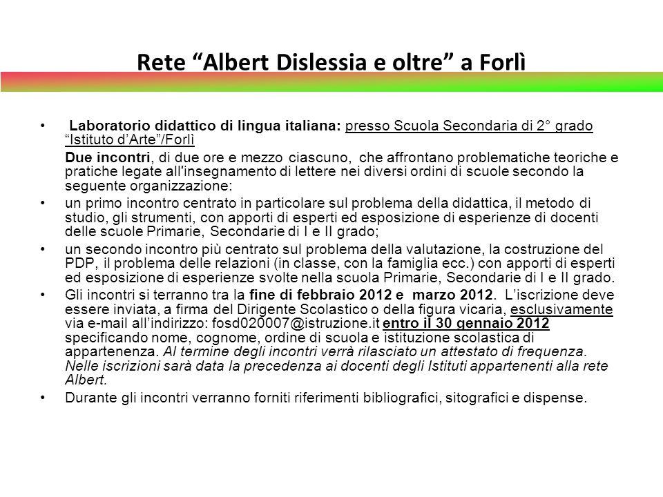 Rete Albert Dislessia e oltre a Forlì