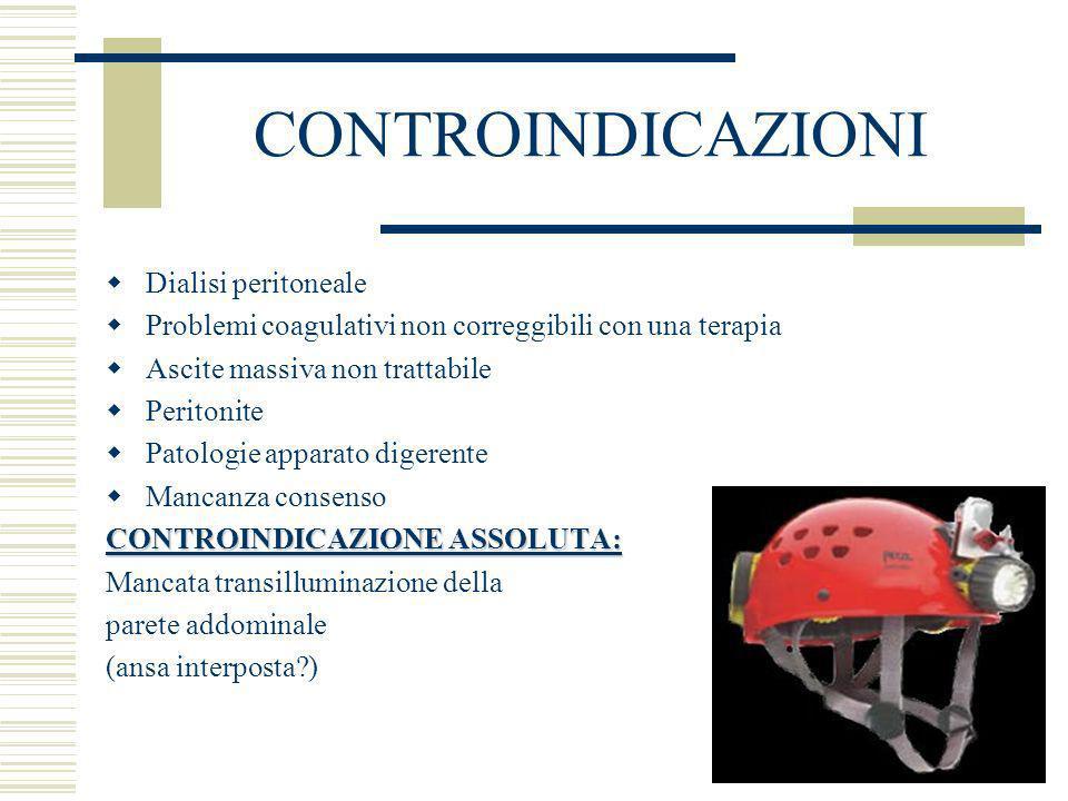 CONTROINDICAZIONI Dialisi peritoneale