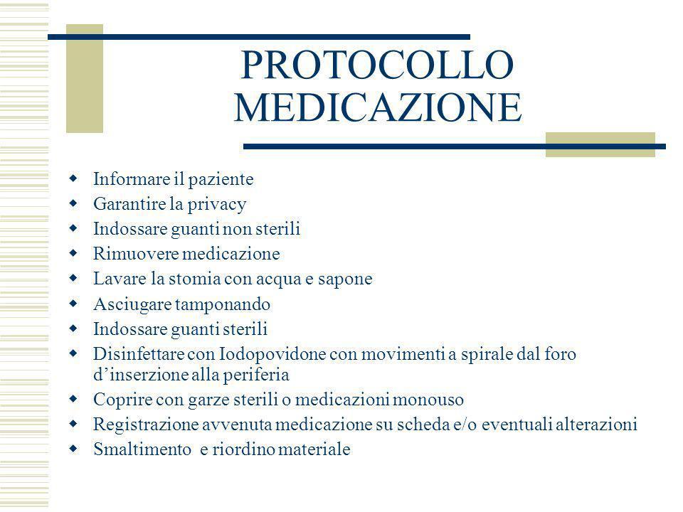 PROTOCOLLO MEDICAZIONE