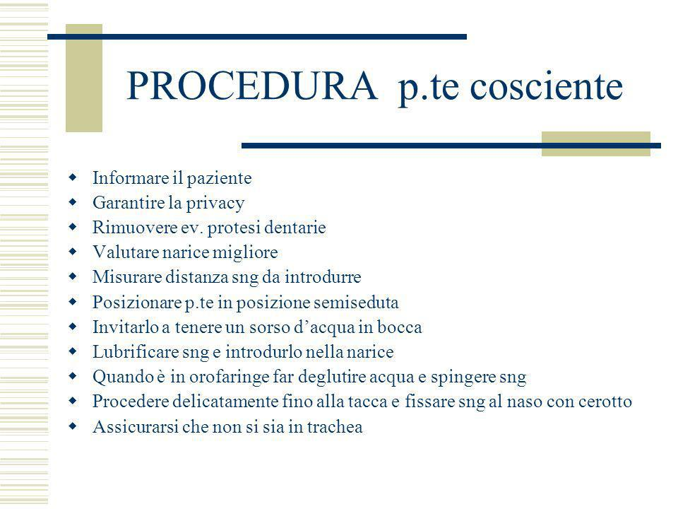 PROCEDURA p.te cosciente