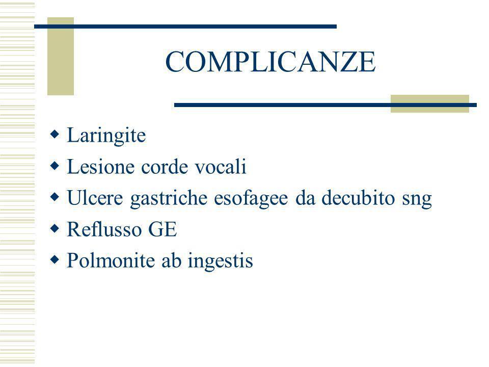 COMPLICANZE Laringite Lesione corde vocali