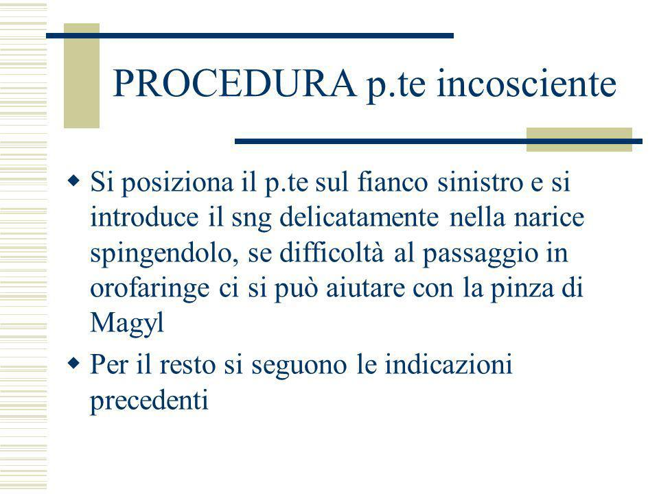 PROCEDURA p.te incosciente