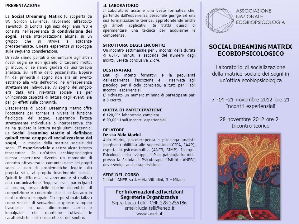 SOCIAL DREAMING MATRIX