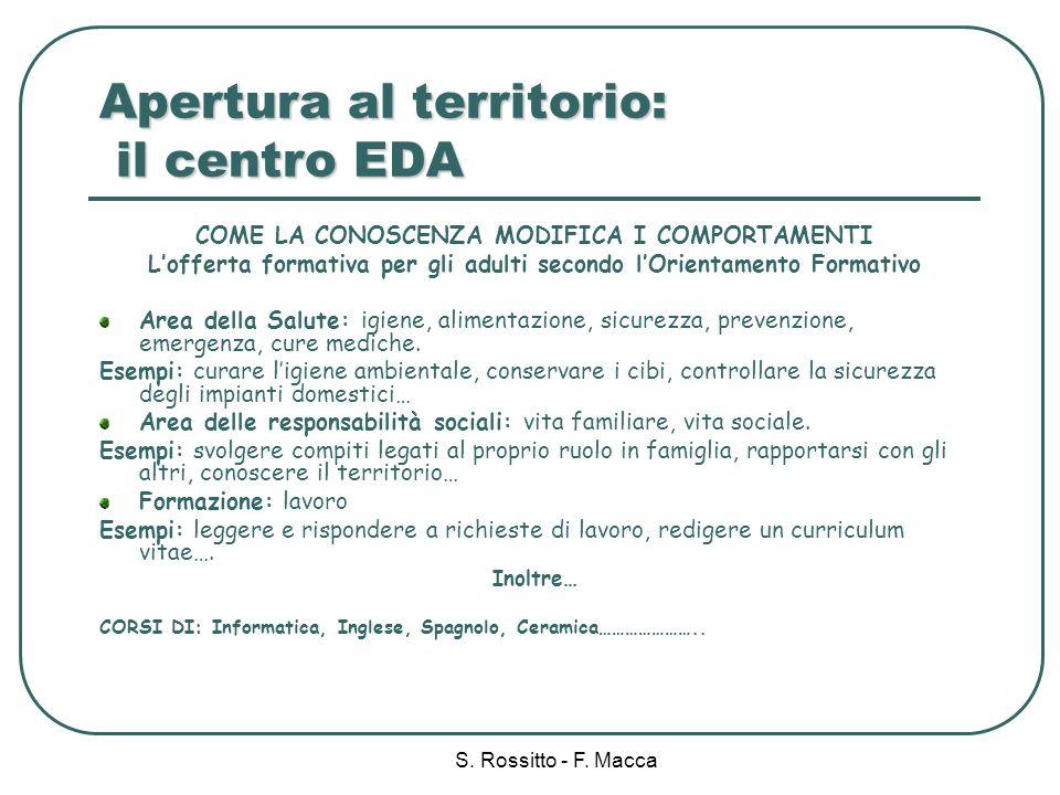 Apertura al territorio: il centro EDA