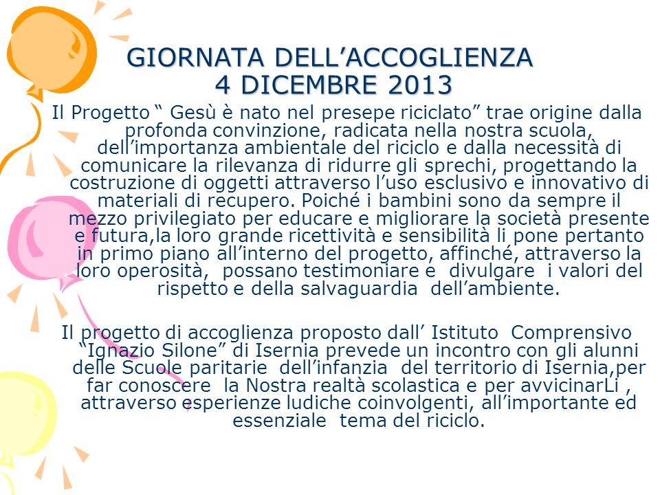 GIORNATA DELL'ACCOGLIENZA 4 DICEMBRE 2013