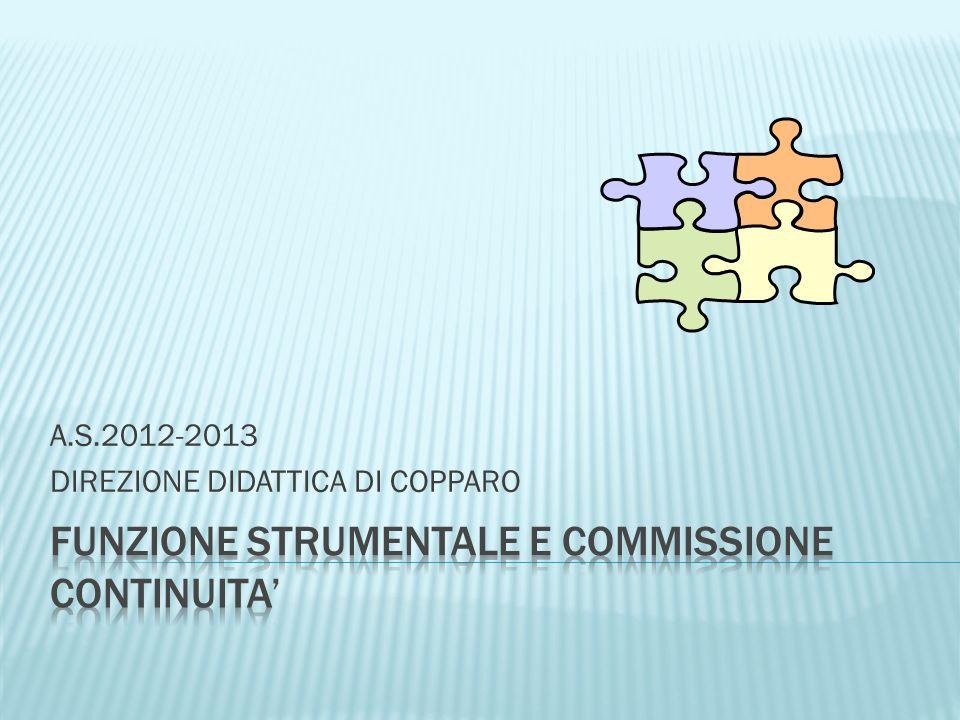 FUNZIONE STRUMENTALE E COMMISSIONE CONTINUITA'