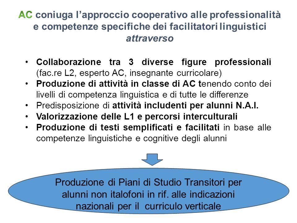 AC coniuga l'approccio cooperativo alle professionalità e competenze specifiche dei facilitatori linguistici attraverso