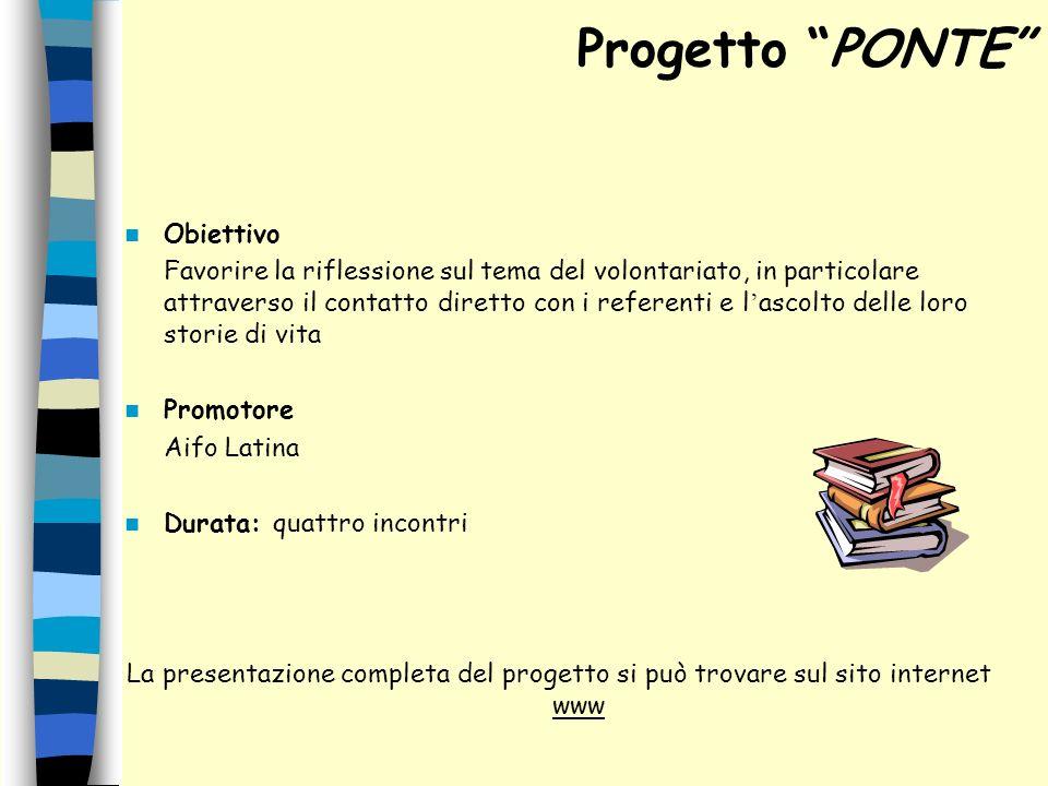 Progetto PONTE Obiettivo