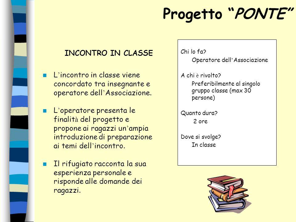 Progetto PONTE INCONTRO IN CLASSE