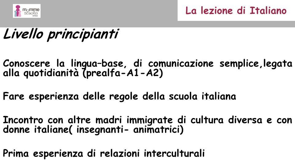 Livello principianti La lezione di Italiano