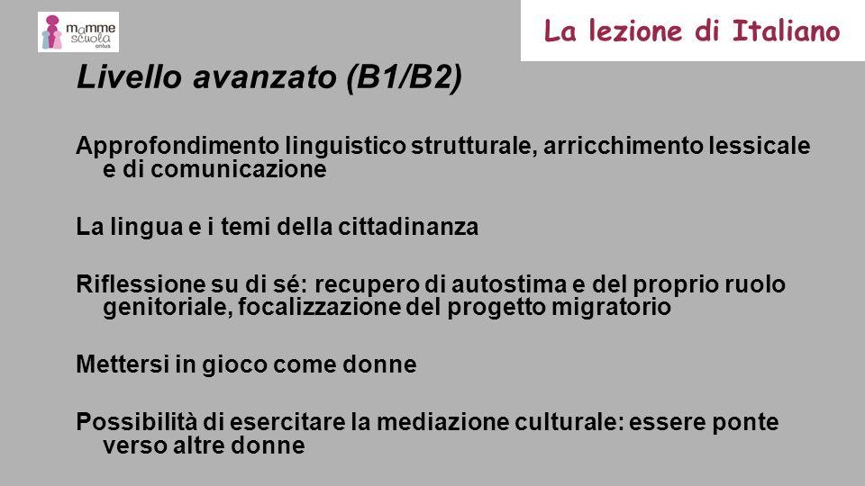 Livello avanzato (B1/B2)