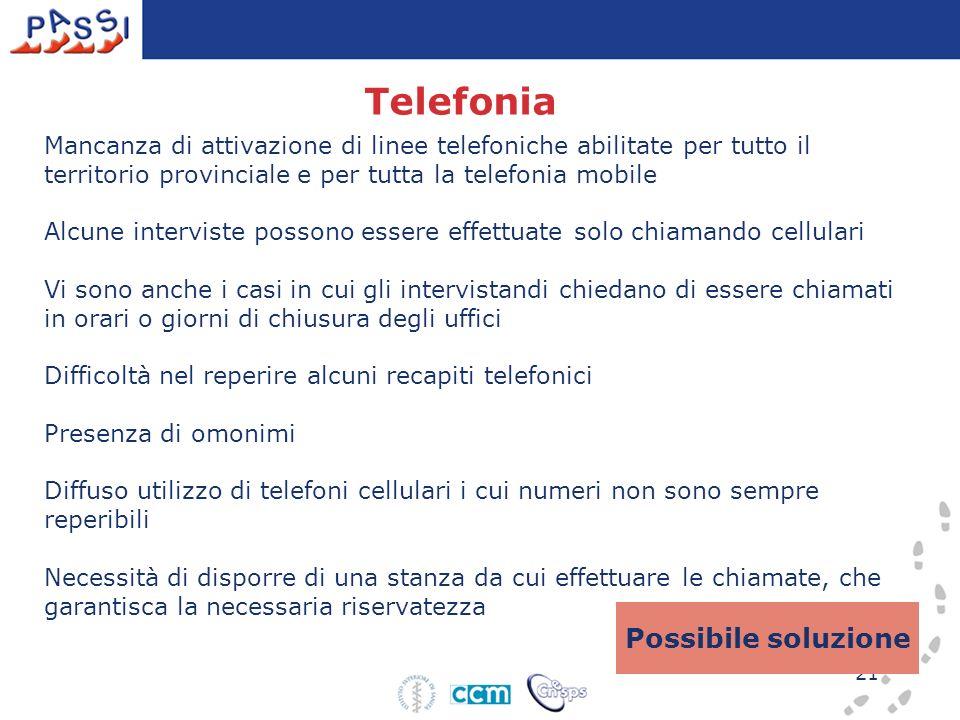 Telefonia Possibile soluzione