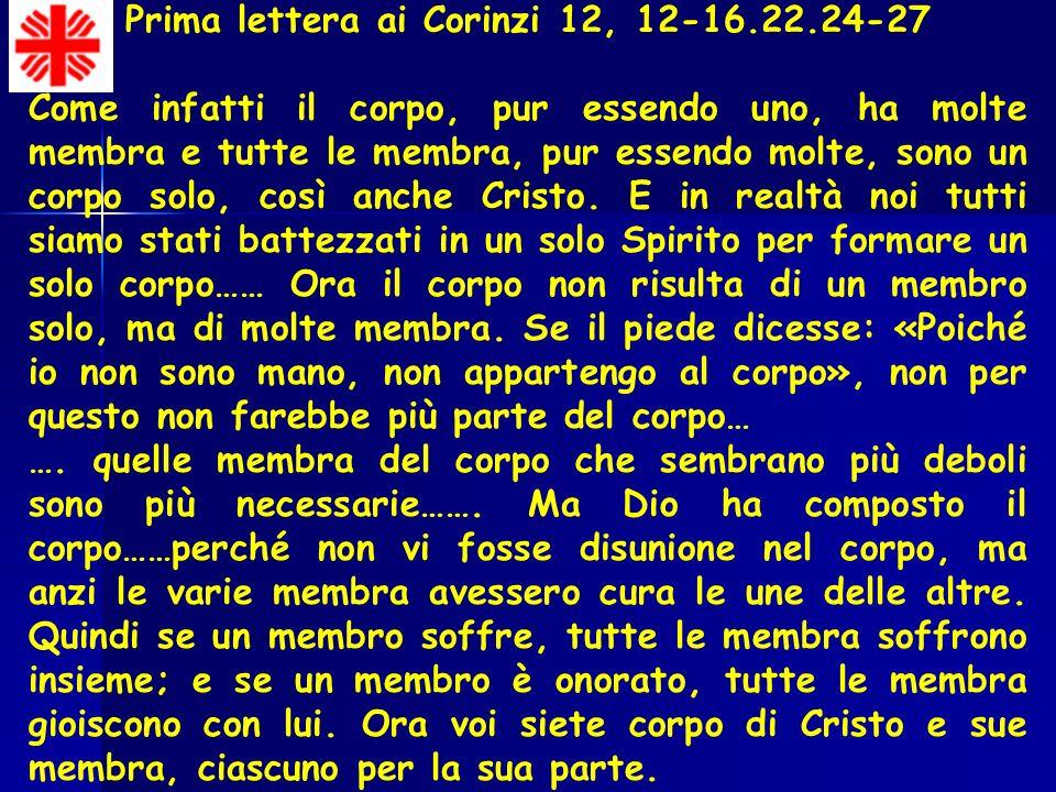 Prima lettera ai Corinzi 12, 12-16.22.24-27