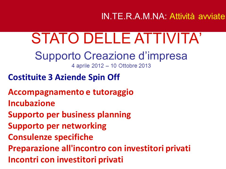 Supporto Creazione d'impresa