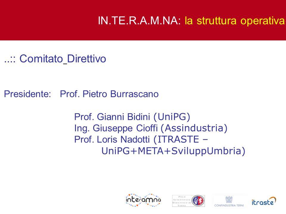 IN.TE.R.A.M.NA: la struttura operativa