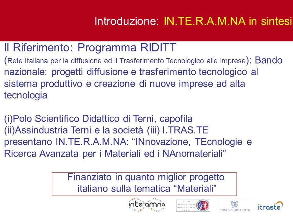 Introduzione: IN.TE.R.A.M.NA in sintesi