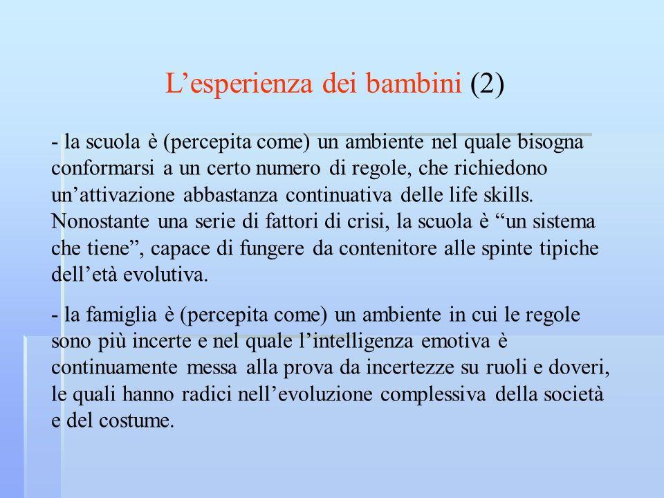L'esperienza dei bambini (2)