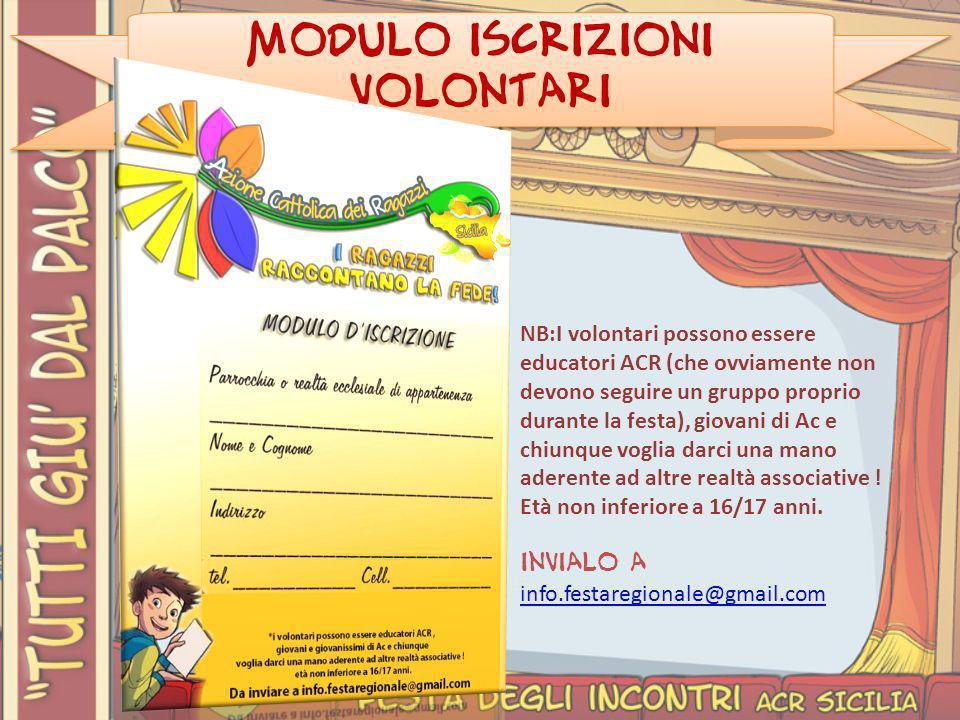 Modulo iscrizioni Volontari