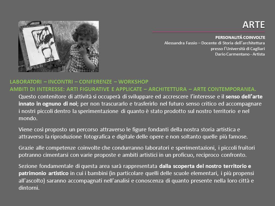 ARTE PERSONALITÁ COINVOLTE. Alessandra Fassio – Docente di Storia dell'architettura presso l'Università di Cagliari.
