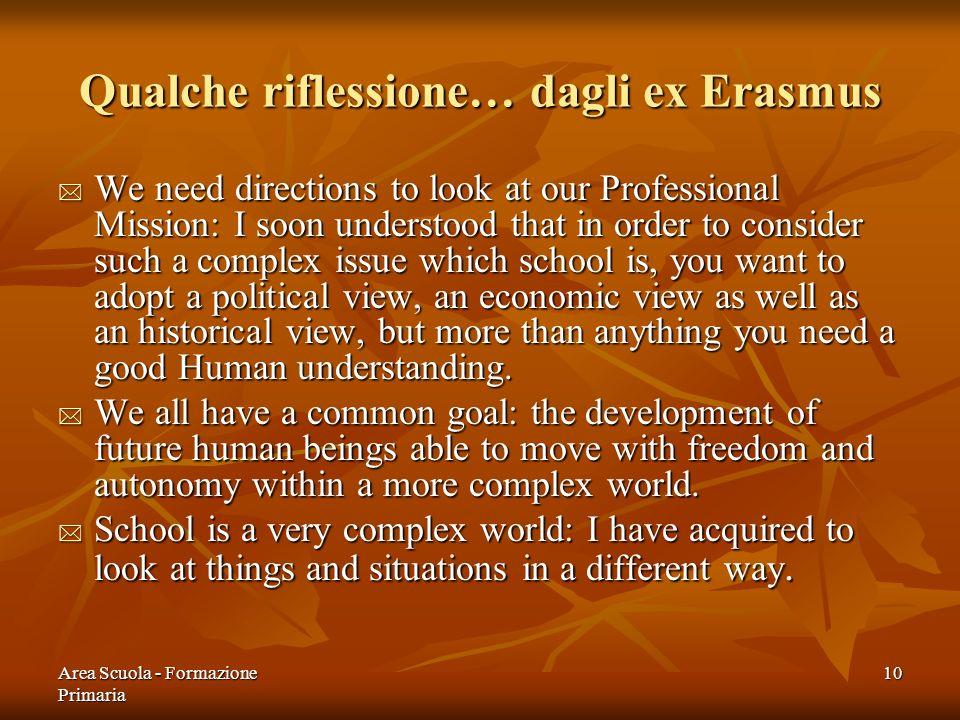 Qualche riflessione… dagli ex Erasmus