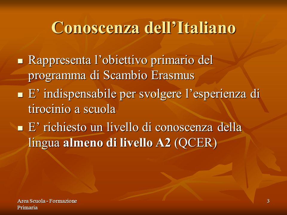 Conoscenza dell'Italiano