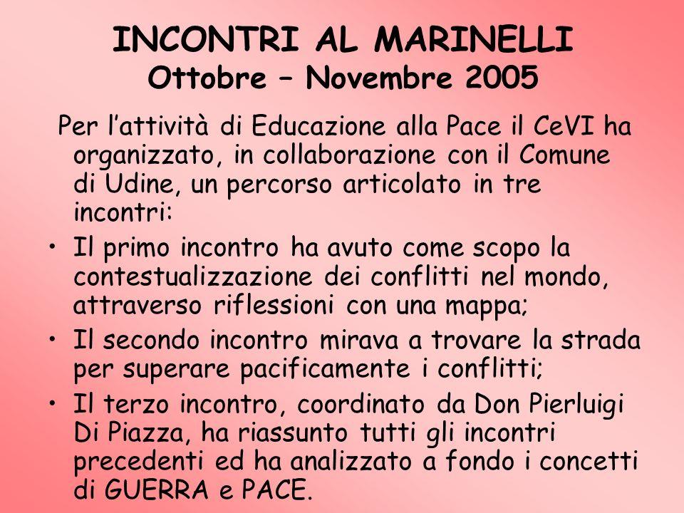 INCONTRI AL MARINELLI Ottobre – Novembre 2005